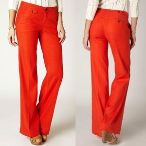 Anthropologie Level 99 Jones Linen Wide Leg Pant